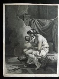 Jean Thouvenin aft Jean-Baptiste Regnault C1800 LG Print Nude Lady holding Child
